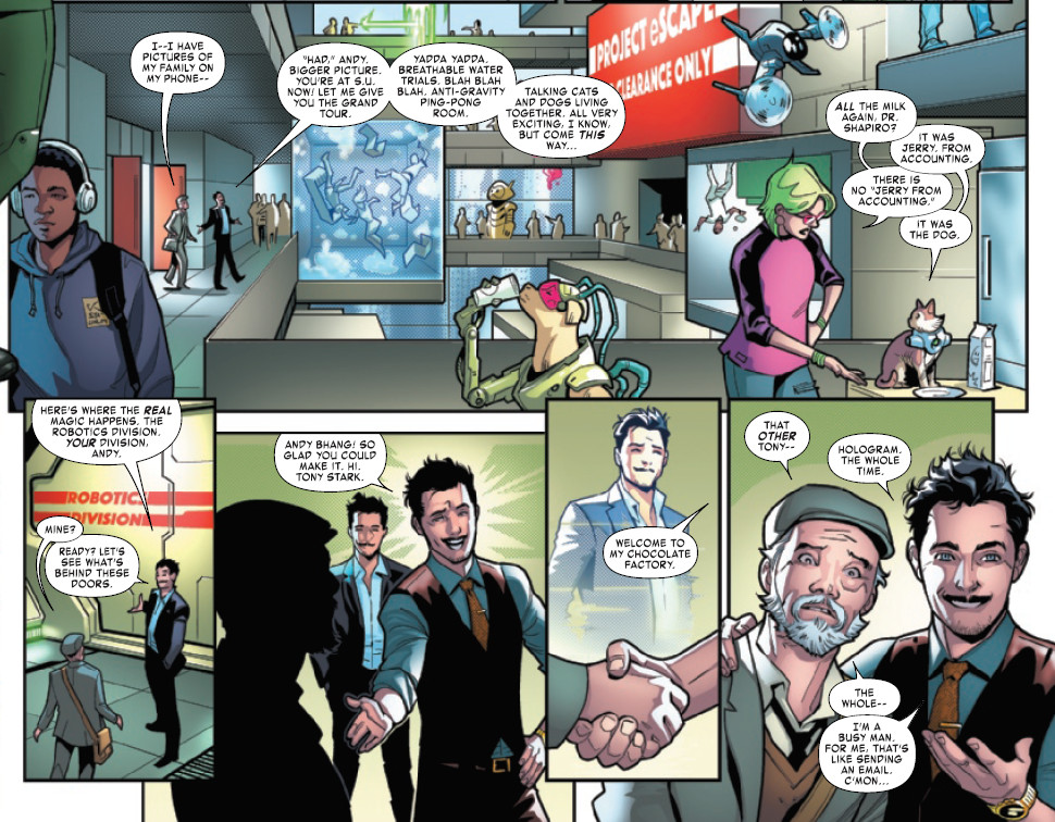 ony Stark Iron Man Preview Page