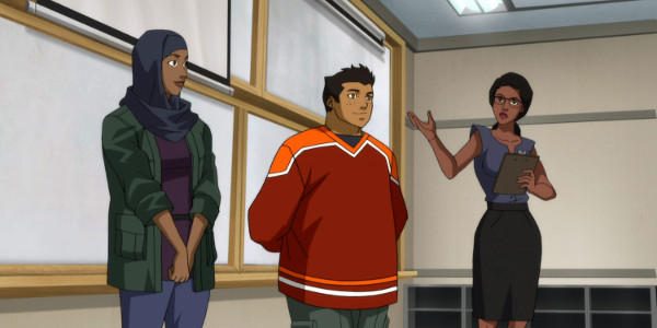 Young Justice Halo and Forager in Secret Identities