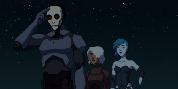 Young Justice Shade Mist and Livewire